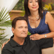 Attractive Hispanic and Caucasian Couple — Stock fotografie