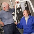 Senior Couple Working Out in the Gym — Stock Photo