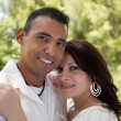 Happy Hispanic Couple in the Park — Stock Photo #2348643