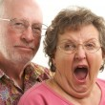 Happy Senior Couple Pose For A Portrait — Stock Photo