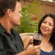 Attractive Hispanic and Caucasian Couple — Stock Photo