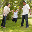 Hispanic Man, Woman and Child having fun — Stock Photo #2348864
