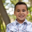 Handsome Young Hispanic Boy Having Fun - 