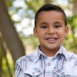 Handsome Young Hispanic Boy Having Fun - Stock Photo