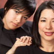 Hispanic Mother and Daughter Portrait — Stock Photo