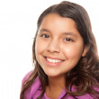 Young Hispanic Pre-teen Girl - Isolated on White — Stock Photo