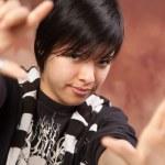 Multiethnic Girl Poses for Portrait — Stock Photo