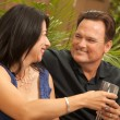 Mixed Race Couple on the Patio — Stock Photo #2349162