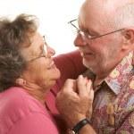 Happy Senior Couple Dancing — Stock Photo