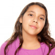 Pretty Hispanic Girl Portrait Isolated on a Whit — Stock Photo #2349264