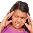 Hispanic Girl with Headache Isolated — Stock Photo #2349479