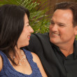 Attractive Hispanic and Caucasian Couple - Stock Photo