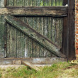 Aged Wall & Door — Stock Photo