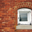 Aged Brick Wall & Window — Stock Photo