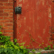 Abstract Vintage Red Door - Stock Photo
