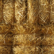 Stock Photo: Stacked Straw Hay Bails
