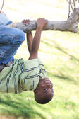 Young Boy Having Fun In The Park — Stockfoto