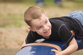 Adorable Child Having Fun Playing — Stock Photo
