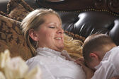 Young Mother and Son Enjoying a Tender Moment — Stock Photo