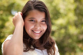 Cute Happy Hispanic Girl — Stock Photo