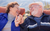 Happy Senior Adult Couple Enjoying Life — Stock Photo