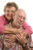 Happy Senior Couple Pose For A Portrait — Stock Photo