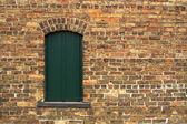 Âgé mur & fenêtre — Photo