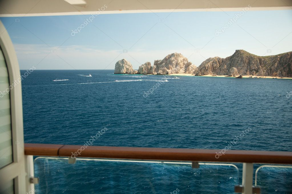 Balcony view on cruise ship at land 39 s end cabo san lucas for Cruise ship balcony view