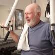 Senior Adult MWorking Out in Gym. — Stock Photo #2350438