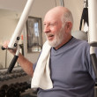 Senior Adult Man Working Out in the Gym. — Foto de Stock