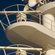 Ea. Cruise ship radar and signaling equipment. — Stock Photo