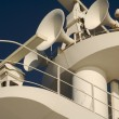 Ea. Cruise ship radar and signaling equipment. - Stock Photo