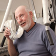Senior Adult Man Working Out in the Gym. — Stock Photo #2350495