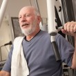 Senior Adult Man Working Out in the Gym. — Stock Photo #2350499