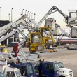 Stock Photo: Deicing Equipment Ready at Airport