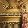 Lamp on Table with Ornate Hanging Tassel — Stock Photo