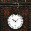 Close-up Front of Ornate Carriage Clock Box. - Stock Photo