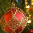 Ornate Ornament Hanging on the Christmas Tree — Stock Photo