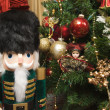Nutcracker and Holiday Decorations — Stock Photo #2351340