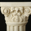 Ancient Replica Column Pillar on Black — Stock Photo #2351455