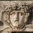 Foto Stock: Face Relief from Ephesus, Turkey