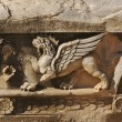 Stock Photo: Lion with Wings Relief