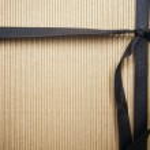 Corrugated Surface Gift Box and Ribbon — Stock Photo #2351541