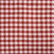 Royalty-Free Stock Photo: Red and White Picnic Blanket
