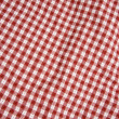 Stock Photo: Red and White Picnic Blanket