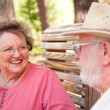 Royalty-Free Stock Photo: Loving Senior Couple Enjoying the Outdoors Toget