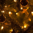 Warm Christmas Tree Decoration Abstract Background - Stock Photo
