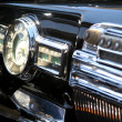 Close-up of vintage car interior. - Stock Photo