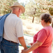 Loving Senior Couple Exploring Nature — Stock Photo #2352400