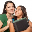 Royalty-Free Stock Photo: Proud Hispanic Mother and Daughter